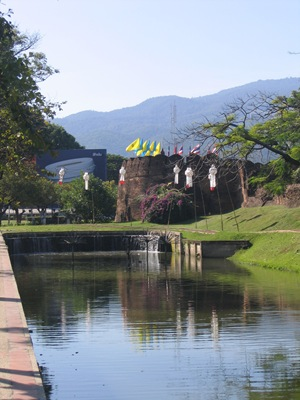 moat surrounding old city of Chiang Mai
