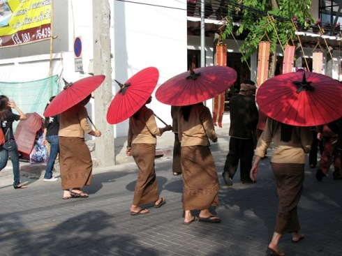 Harvest celebration, Chiang Mai, Thailand