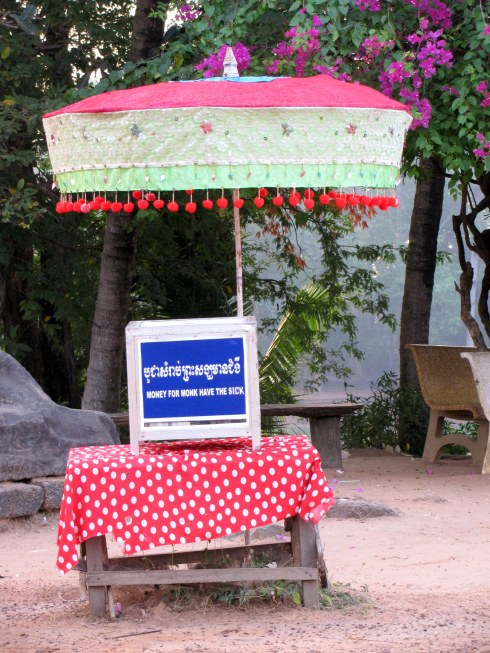 Donation box, Bakong temple, Siem Reap, Cambodia