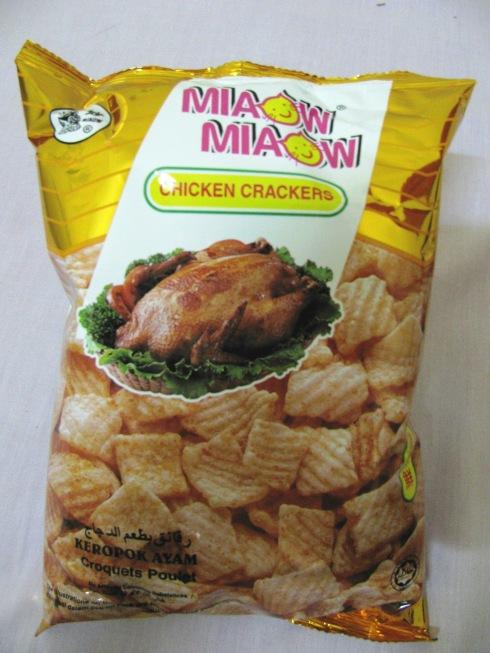 Miaow Miaow chicken crackers, Phnom Penh, Cambodia