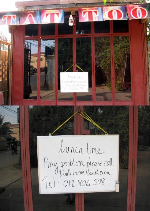Tattoo shop, Siem Reap, Cambodia