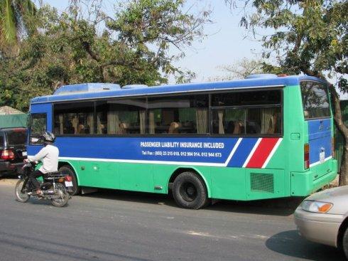 Bus, Sothearos Boulevard, Phnom Penh, Cambodia