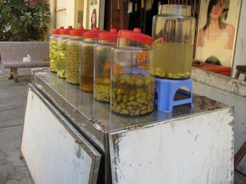 Street pickles, Phnom Penh, Cambodia