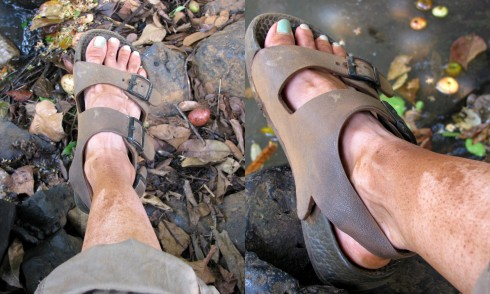 My foot, Ka Tieng waterall, Ban Lung, Cambodia