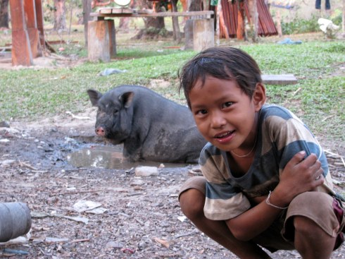 Fatso and friend, Ratankiri Province, Cambodia