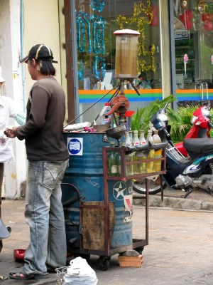 Gas 'station, Phnom Penh, Cambodia