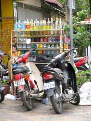 Gas 'station,' Phnom Penh, Cambodia