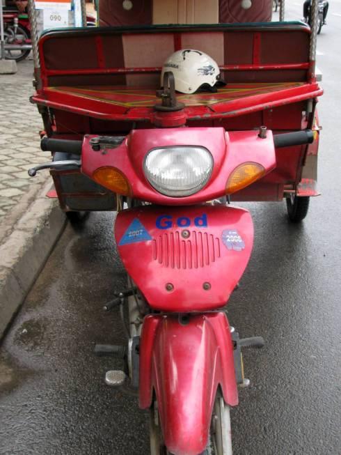 God's tuk tuk, Phnom Penh, Cambodia