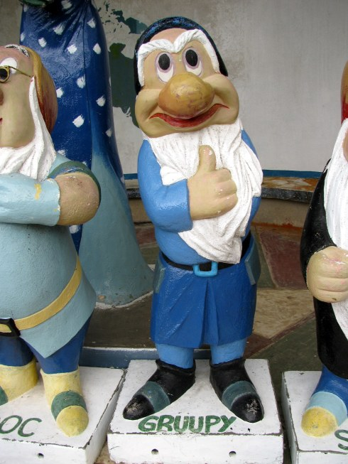 Grumpy garden gnome, Rose Centre, Camerob Highlands, Malaysia