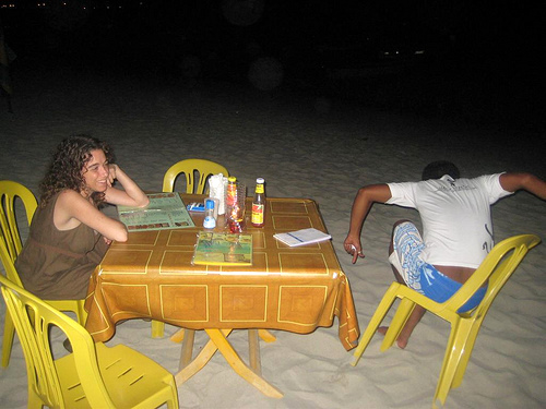 Dinner on the beach, Long Beach, Pehrentian Islands, Malaysia