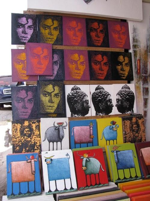 Art, Tourist market, Ubud, Bali, Indonesia