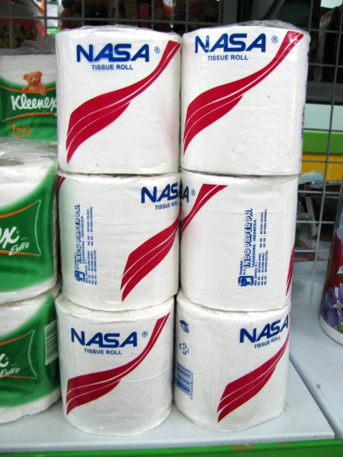Nasa toilet paper, Ruteng, Flores, Indonesia