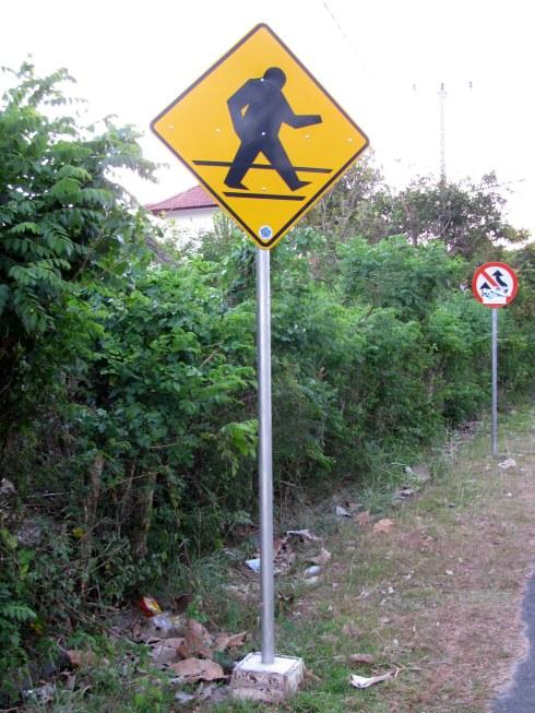 Street sign, Bali, Indonesia