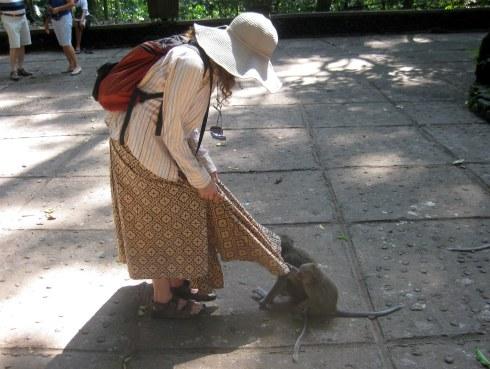 Me and the monkeys, Monkey Forest, Ubud, Bali, Indonesia