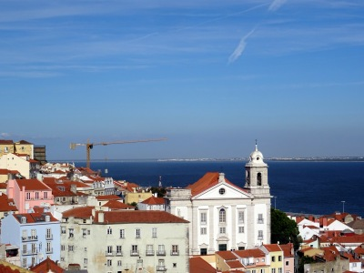 View from the Miradouro de Santa Luzia, Lisbon