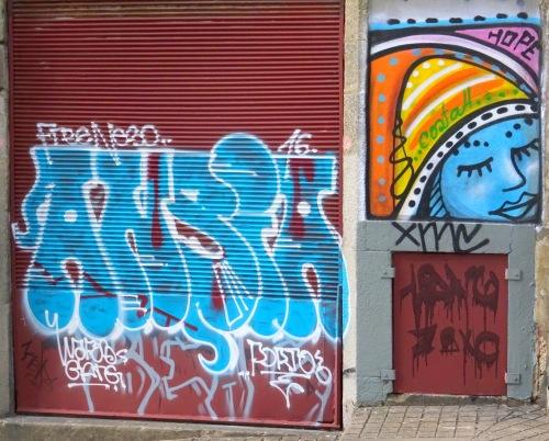Graffiti and street art both