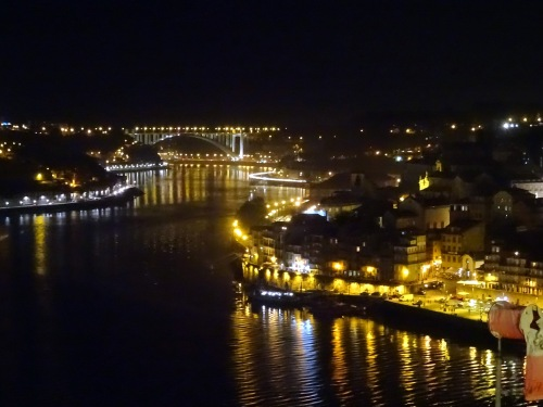 Porto—and its across-the-Douro River cousin, Vila Nova de Gaia—by night