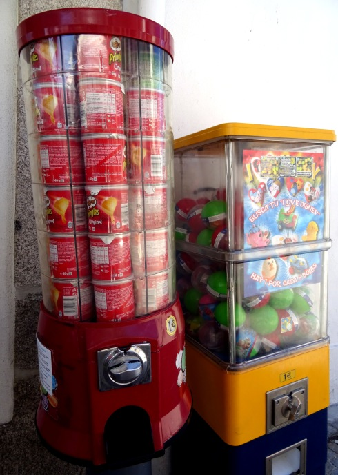 Yes, that's a Pringles vending machine. Now you know.